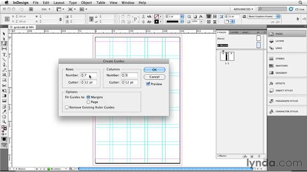Putting your InDesign CS5 document on a grid: Designing a Book Cover