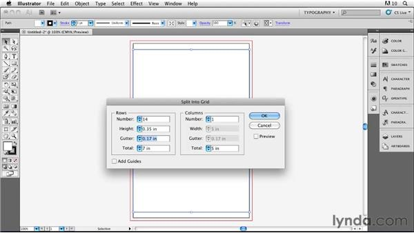 Setting up the document in Illustrator and placing it on a grid: Designing a Book Cover