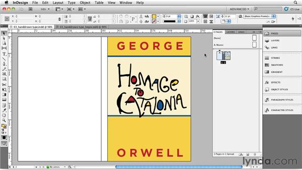 Creating hand-drawn type with the Blob Brush tool: Designing a Book Cover