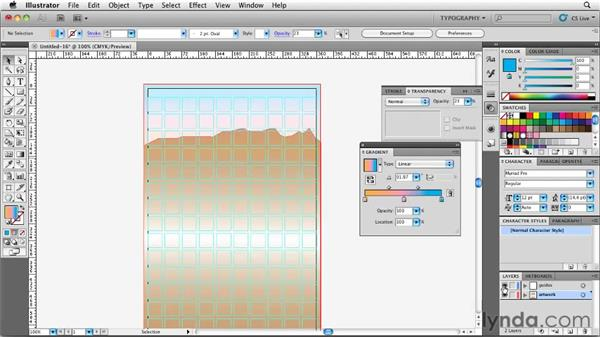 Creating a simple illustration using the Pen and Gradient tools: Designing a Book Cover