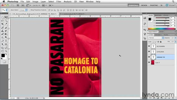 Distressed type: Designing a Book Cover