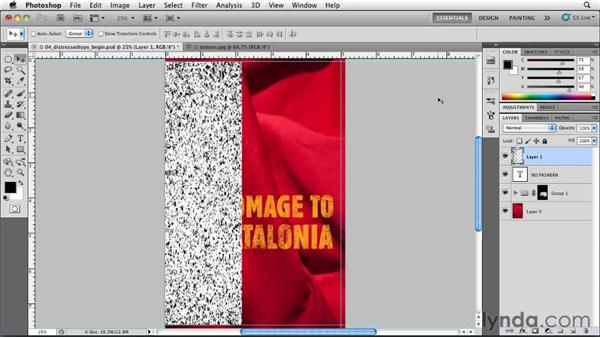 More distressed type: Designing a Book Cover