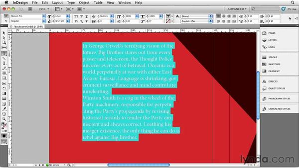 Designing the back cover: Designing a Book Cover
