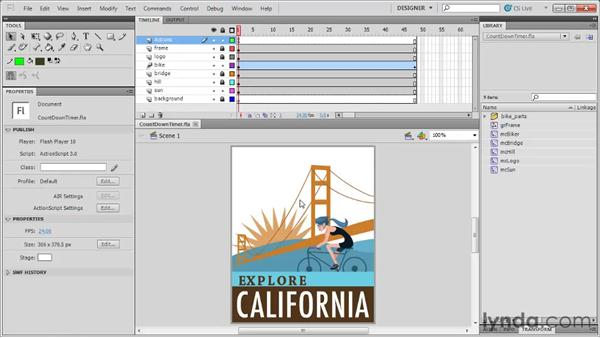 Using the exercise files: Flash Professional CS5: Code Snippets and Templates in Depth