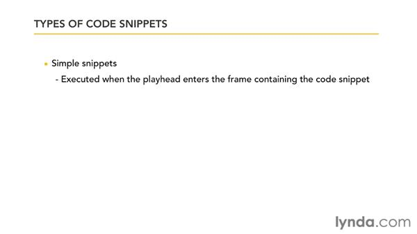 Using code snippets : Flash Professional CS5: Code Snippets and Templates in Depth