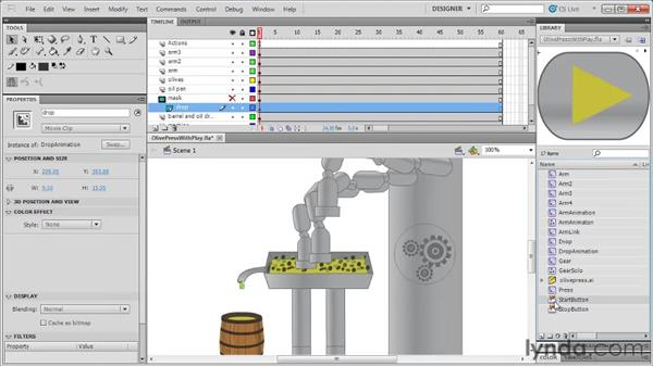 Adding Play and Stop actions: Flash Professional CS5: Code Snippets and Templates in Depth