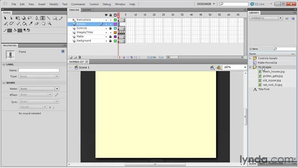 Creating a photo album: Flash Professional CS5: Code Snippets and Templates in Depth