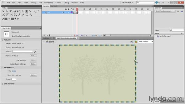 Creating a simple slideshow presentation: Flash Professional CS5: Code Snippets and Templates in Depth
