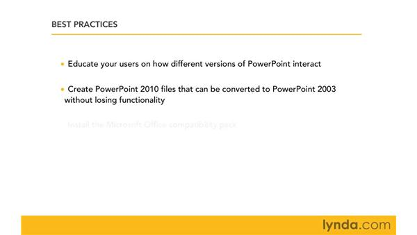 Best practices for managing files in a mixed environment: Migrating from PowerPoint 2003 to PowerPoint 2010
