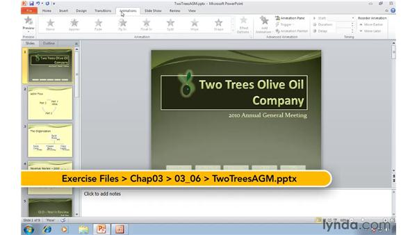 Animating a presentation with transitions and animations: Migrating from PowerPoint 2003 to PowerPoint 2010