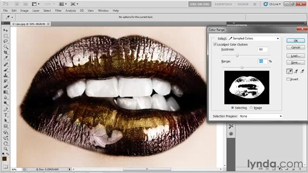 Defining a selection with care: Photoshop CS5 One-on-One: Advanced