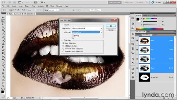 Saving and loading an alpha channel: Photoshop CS5 One-on-One: Advanced