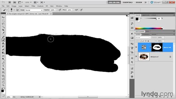 Protecting elements with a layer mask: Photoshop CS5 One-on-One: Advanced