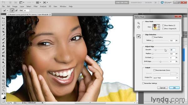 The Adjust Edge values: Photoshop CS5 One-on-One: Advanced