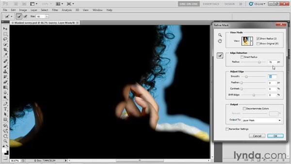 Edge Detection and Smart Radius: Photoshop CS5 One-on-One: Advanced