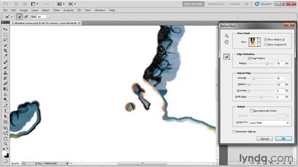 Using the Refine Radius tool: Photoshop CS5 One-on-One: Advanced