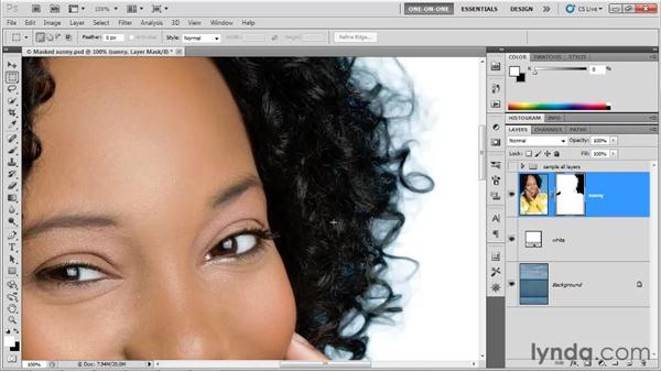 Using the Decontaminate Colors option: Photoshop CS5 One-on-One: Advanced