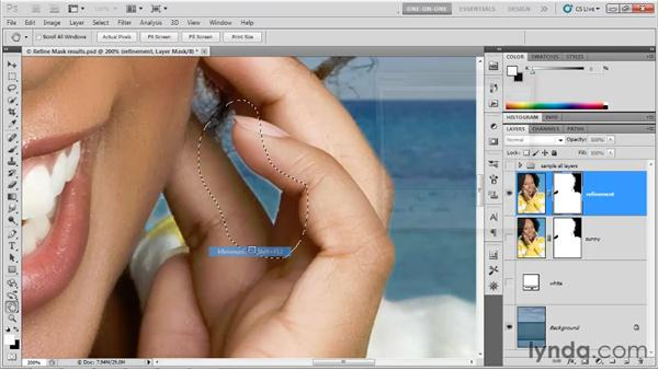 Old-school masking adjustments: Photoshop CS5 One-on-One: Advanced