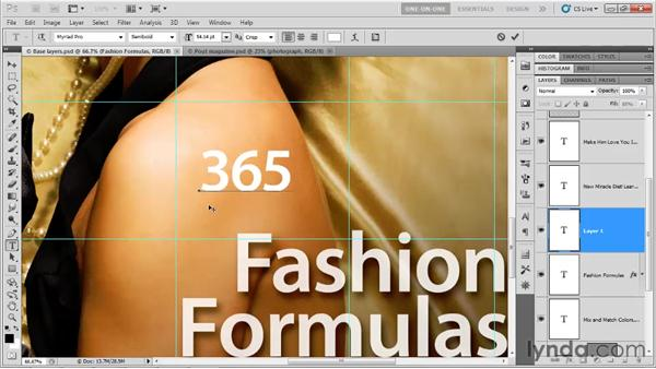 Creating and editing a text layer: Photoshop CS5 One-on-One: Advanced