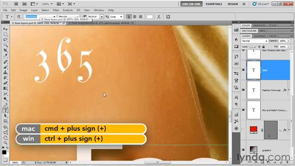 Font and type style: Photoshop CS5 One-on-One: Advanced
