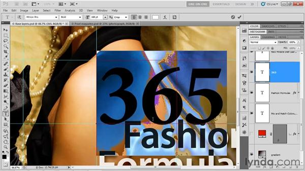 Type size and color: Photoshop CS5 One-on-One: Advanced