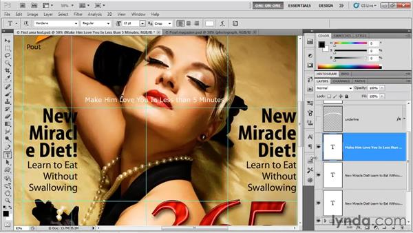 Copying and pasting unformatted text: Photoshop CS5 One-on-One: Advanced
