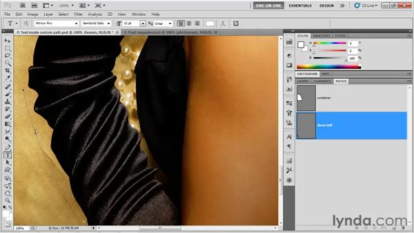 Creating text along a path: Photoshop CS5 One-on-One: Advanced