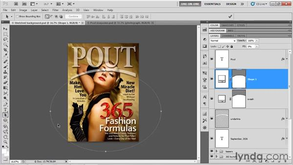 Drawing with shape outlines: Photoshop CS5 One-on-One: Advanced