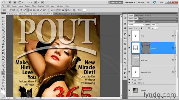 Combining vector-based shapes: Photoshop CS5 One-on-One: Advanced