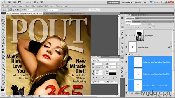 Correcting spacing problems: Photoshop CS5 One-on-One: Advanced