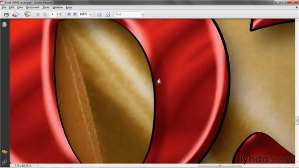 Inspecting the final PDF document: Photoshop CS5 One-on-One: Advanced