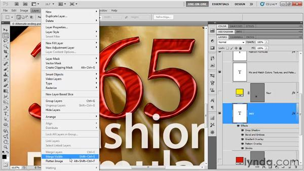 Saving large poster art: Photoshop CS5 One-on-One: Advanced