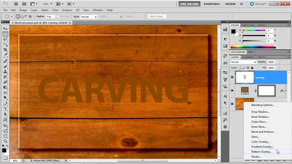 Layer effects vs. filters: Photoshop CS5 One-on-One: Advanced