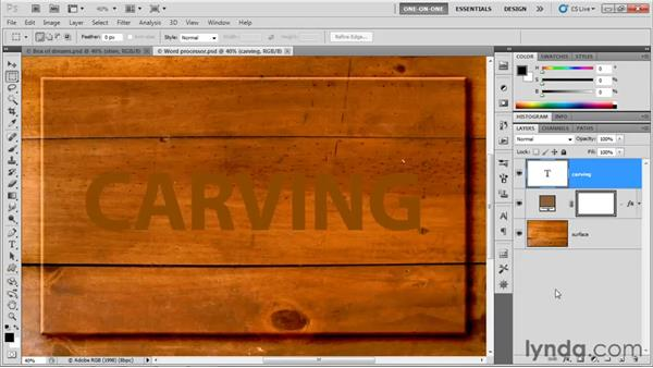 Creating blurry shadow type: Photoshop CS5 One-on-One: Advanced