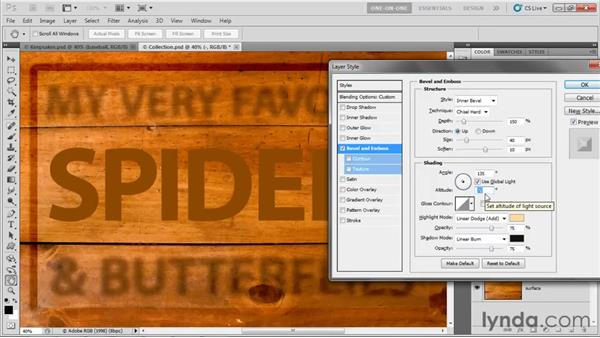 Adjusting Angle and Altitude: Photoshop CS5 One-on-One: Advanced