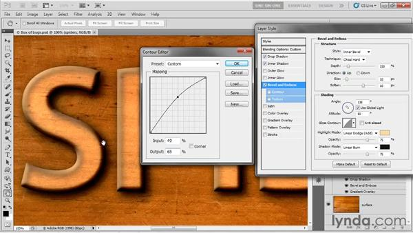 Gloss and edge contour: Photoshop CS5 One-on-One: Advanced