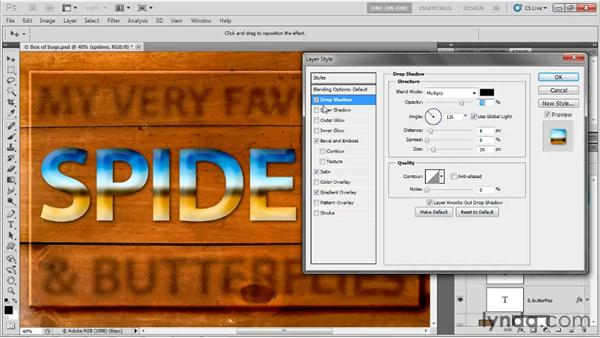 Applying and creating layer styles: Photoshop CS5 One-on-One: Advanced