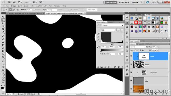 Smoothing with Gaussian Blur and Levels: Photoshop CS5 One-on-One: Advanced