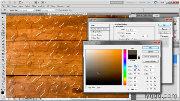Simulating liquid reflections: Photoshop CS5 One-on-One: Advanced