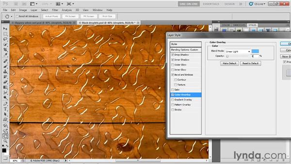 Finessing and cropping a liquid effect: Photoshop CS5 One-on-One: Advanced