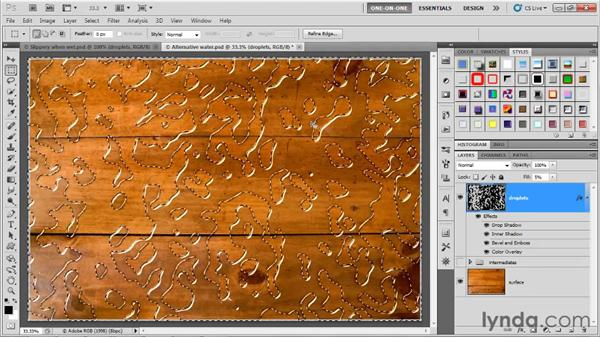 Initiating a displacement map: Photoshop CS5 One-on-One: Advanced