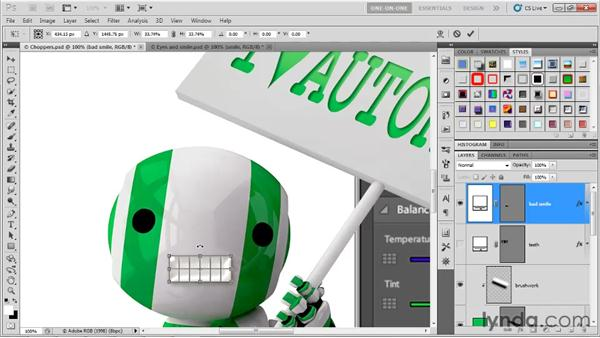 Rasterizing a layer with its effects: Photoshop CS5 One-on-One: Advanced