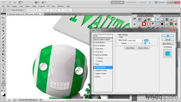 Creating spherical highlights: Photoshop CS5 One-on-One: Advanced