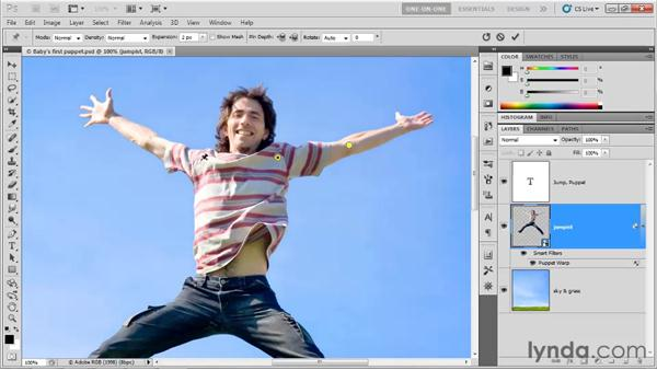 Setting and manipulating pins: Photoshop CS5 One-on-One: Advanced