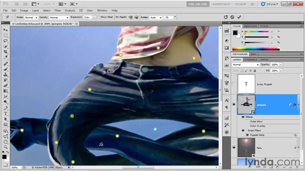 Winding an image into a pretzel: Photoshop CS5 One-on-One: Advanced