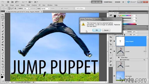 Applying Puppet Warp to type: Photoshop CS5 One-on-One: Advanced