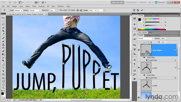 Warping single characters: Photoshop CS5 One-on-One: Advanced