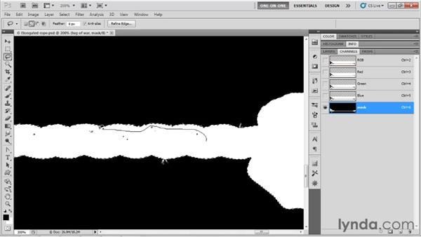 Extracting from a white background: Photoshop CS5 One-on-One: Advanced