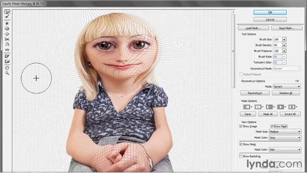 Saving and loading a mesh: Photoshop CS5 One-on-One: Advanced