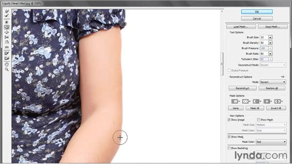 Warping fabric, arms, and legs: Photoshop CS5 One-on-One: Advanced